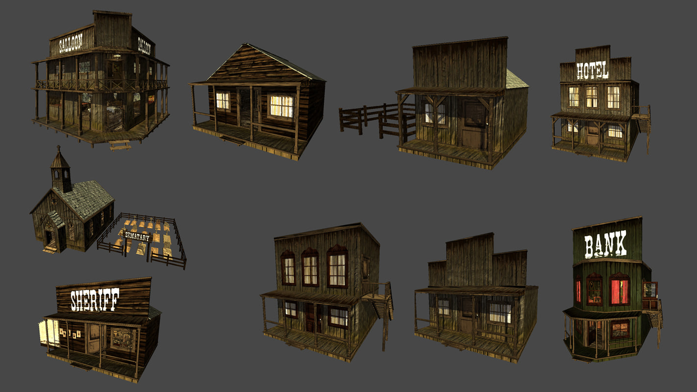 western town 3d ma