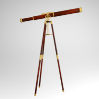 3d model antique telescope