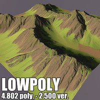 mountain terrain 3d model