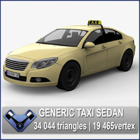 3d model generic taxi sedan majestic