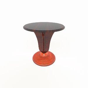 tea table 3d obj