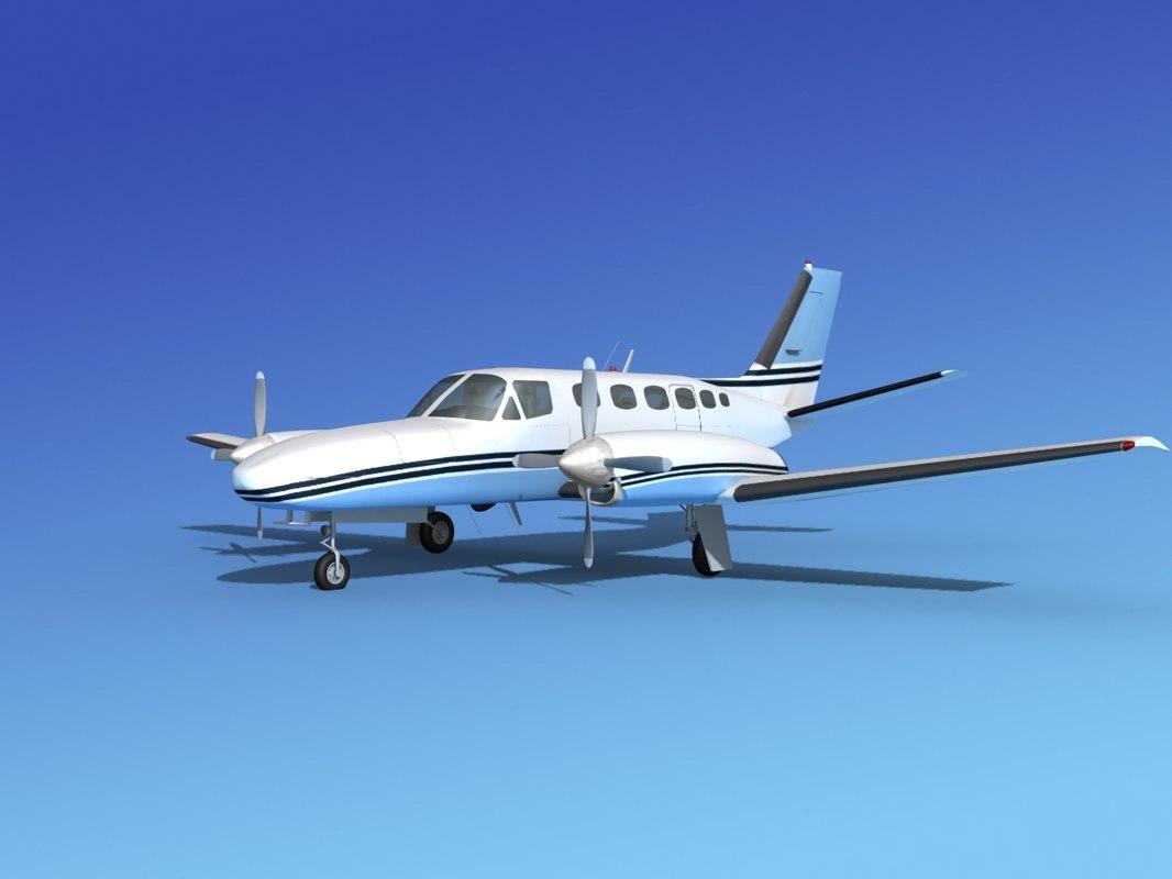 propellers cessna 441 conquest 3d model
