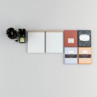 3d model office desk equipment