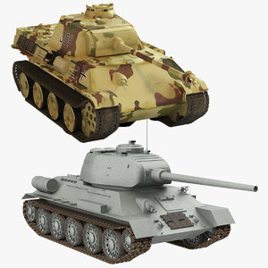 t-34 85 v panther 3d 3ds