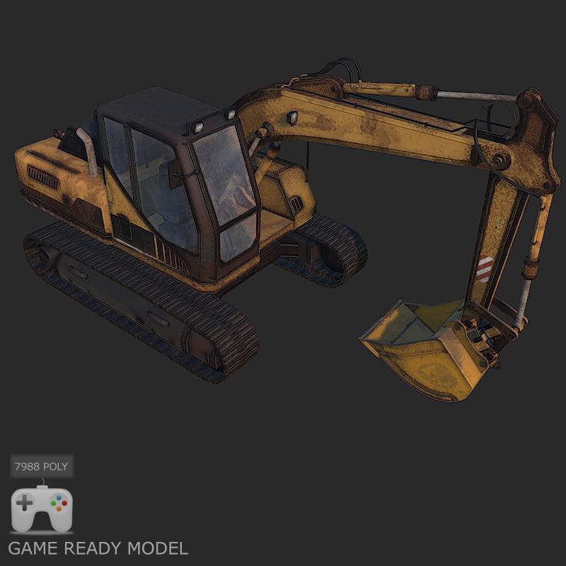 digger 3d model