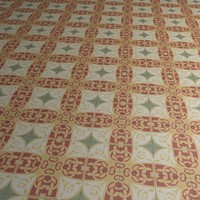 Floor Tile Yellow Red