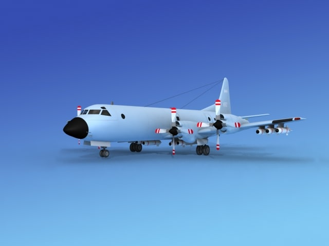 3d max orion lockheed p-3 navy