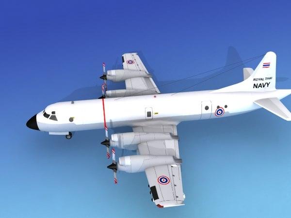 3d model orion lockheed p-3 navy