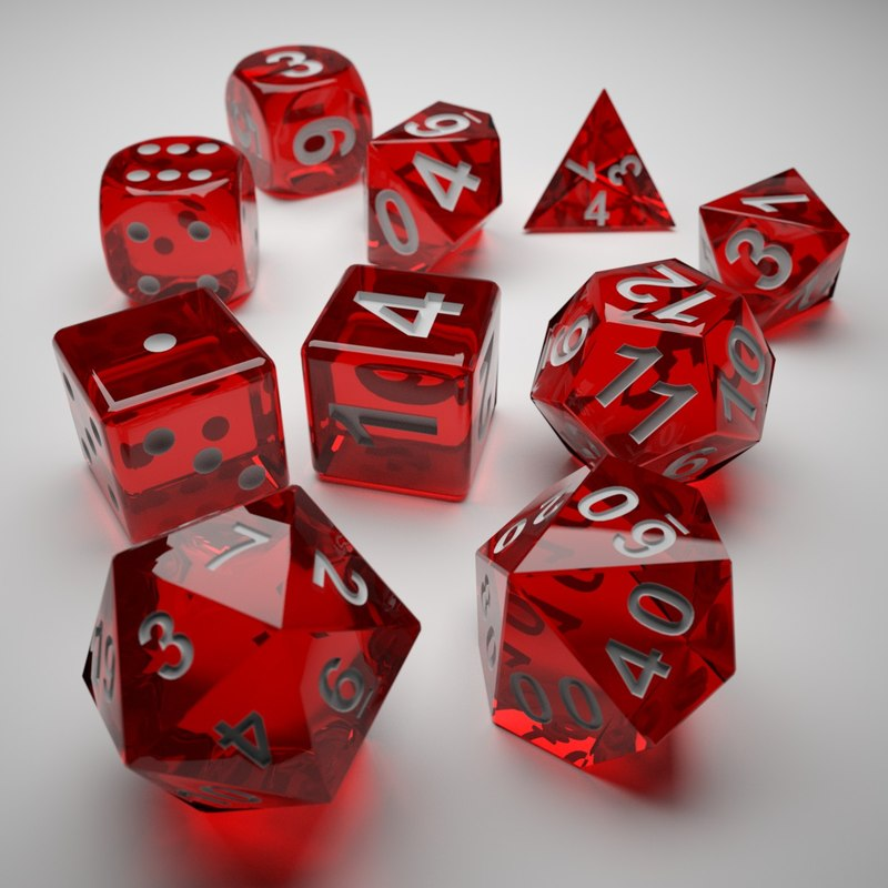 role playing dice - 3d model