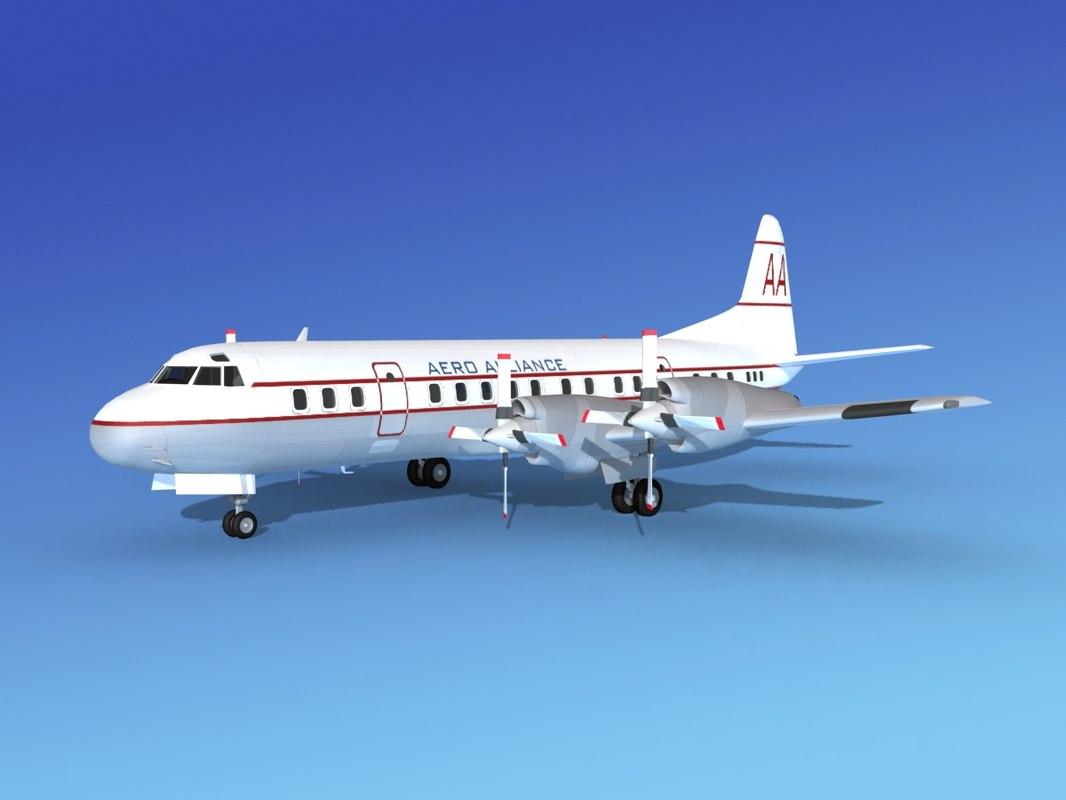 propellers electra lockheed obj