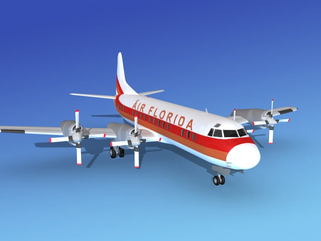 propellers electra lockheed 3d model