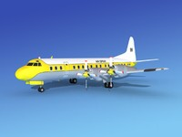 propellers l188 electra lockheed 3d model