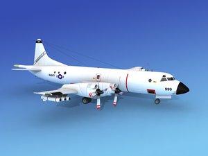 3d orion lockheed p-3 navy model