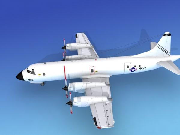 orion lockheed p-3 navy 3d model