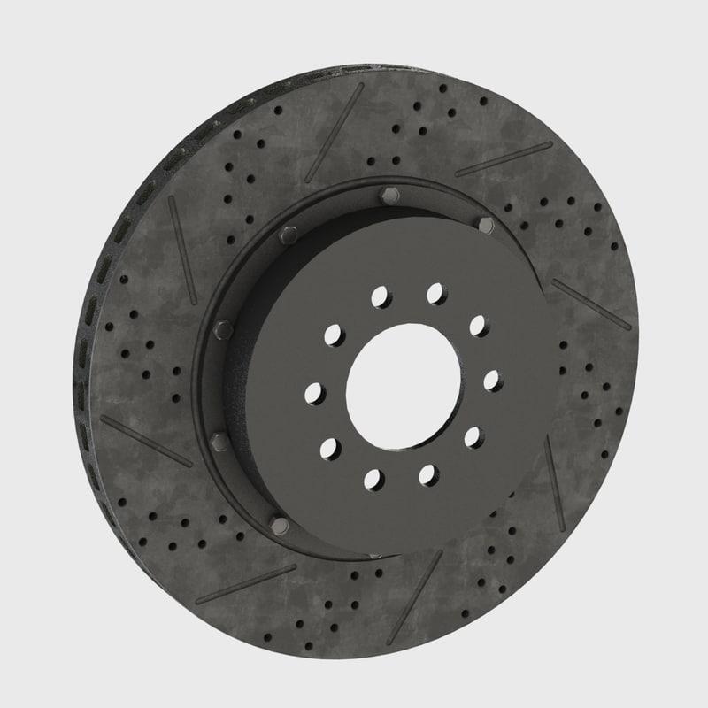 brake disk modeled cad 3d model