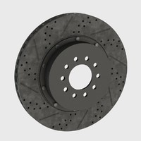 brake disk modeled cad 3d model
