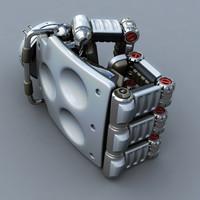 3d model robot hand