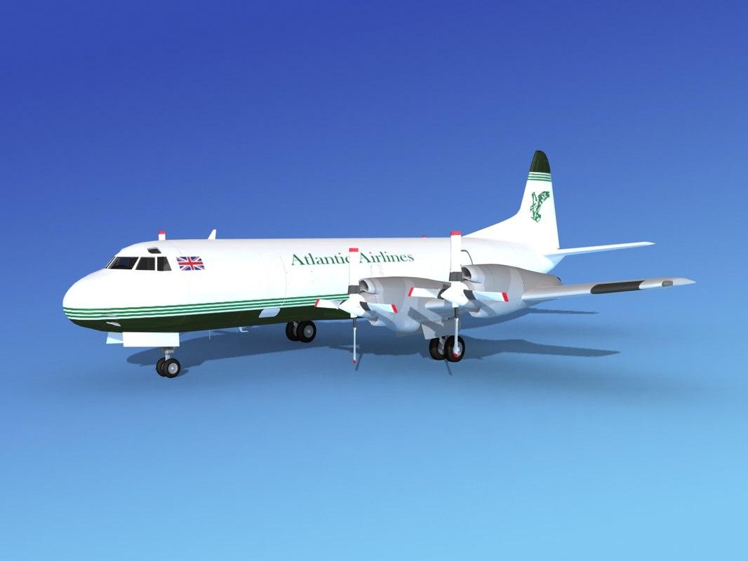 propellers l188 electra airline 3d obj
