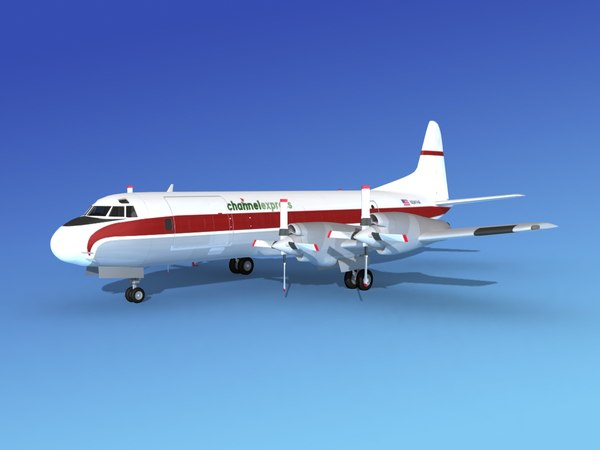 propellers l188 electra lockheed 3d max
