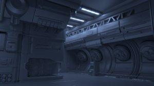 x generic sci fi interior