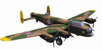 Avro Lancaster MK3 WW2 Bomber Game Ready Model 59K poly