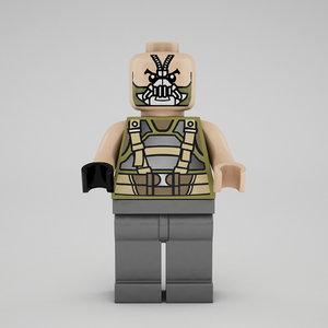 3d lego bane