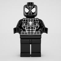 3d model lego black