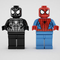 Spiderman and black  spiderman