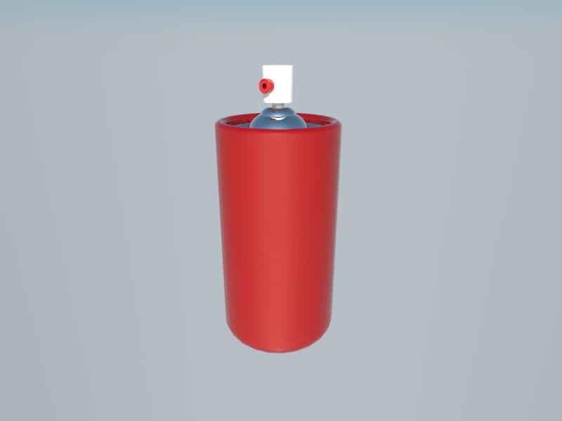 3d spray model