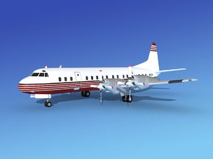 propellers electra lockheed 3d obj