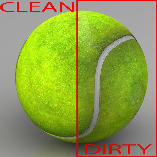 3dsmax tennis ball