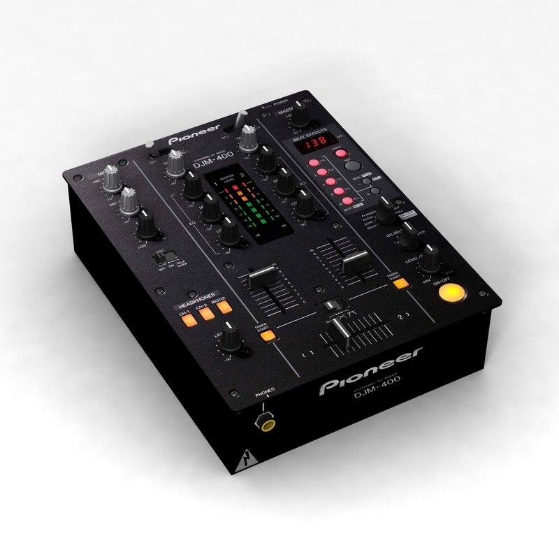 3d model pioneer djm-400 mixer
