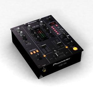 3d pioneer djm-400 mixer model