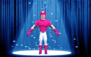 3ds super hero boy character