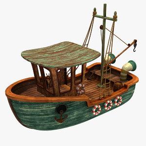 maya cartoon boat