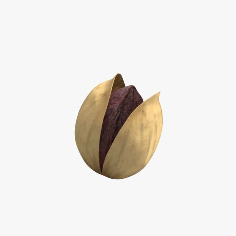 free pistachio nut 3d model
