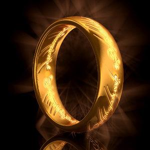 3d ring modeled