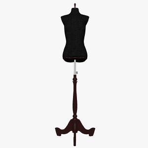 female mannequin stand 3d model