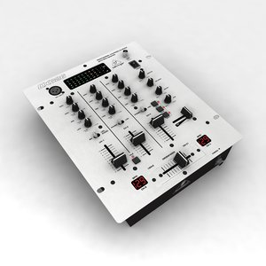 behringer pro mixer dx-626 3d model