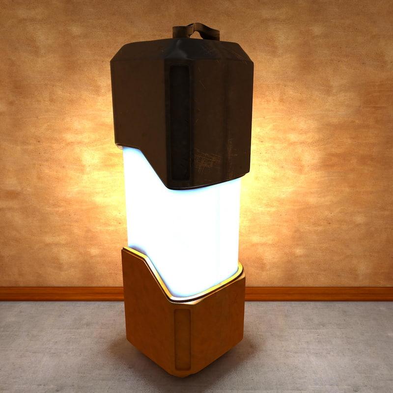 sci-fi lamp 3d model