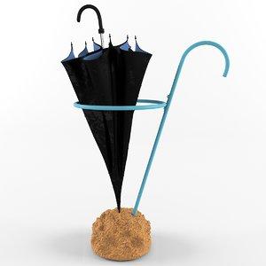 3d umbrella stand eva schildt model
