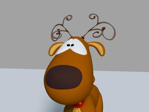reindeer animation 3d model