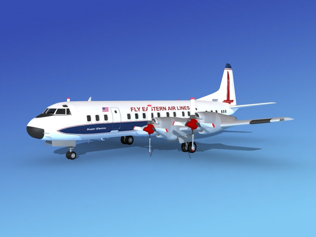 3d propellers electra airline lockheed model
