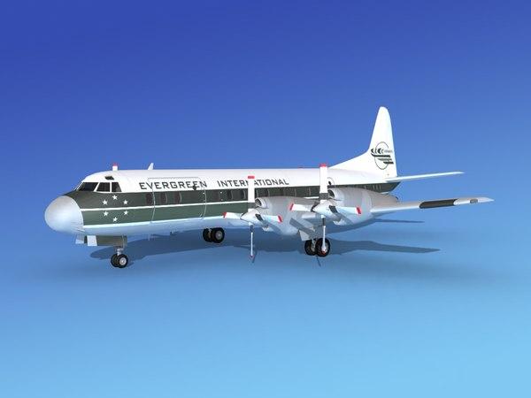 3d model propellers electra lockheed