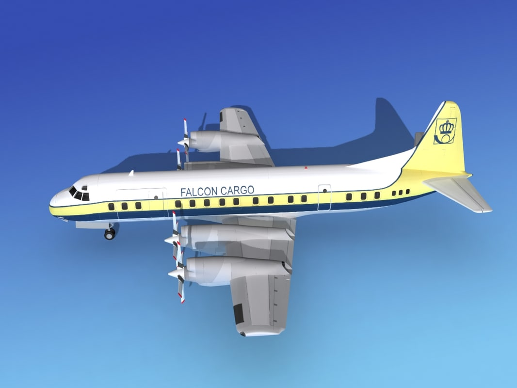 propellers electra lockheed cargo 3d model