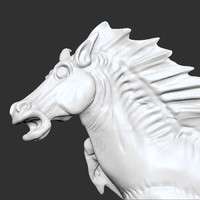 obj sculpture hippocampus