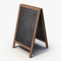 sandwich board 3d model