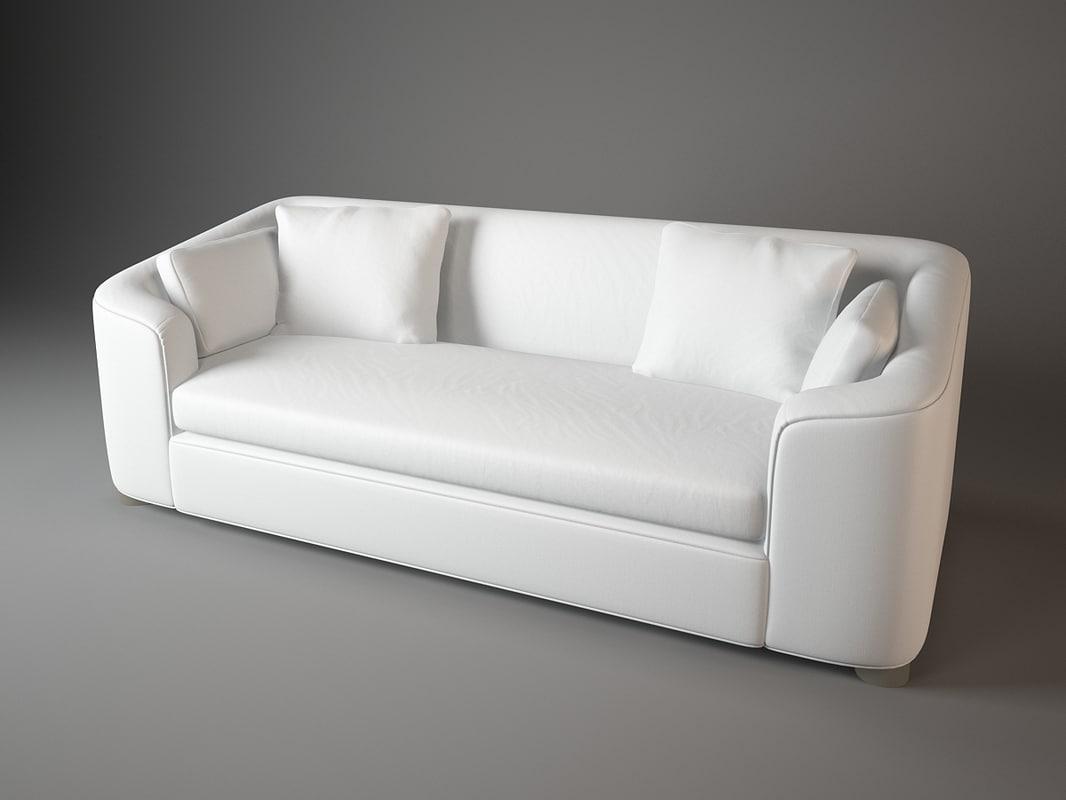 cove sofa barbara barry 3d model