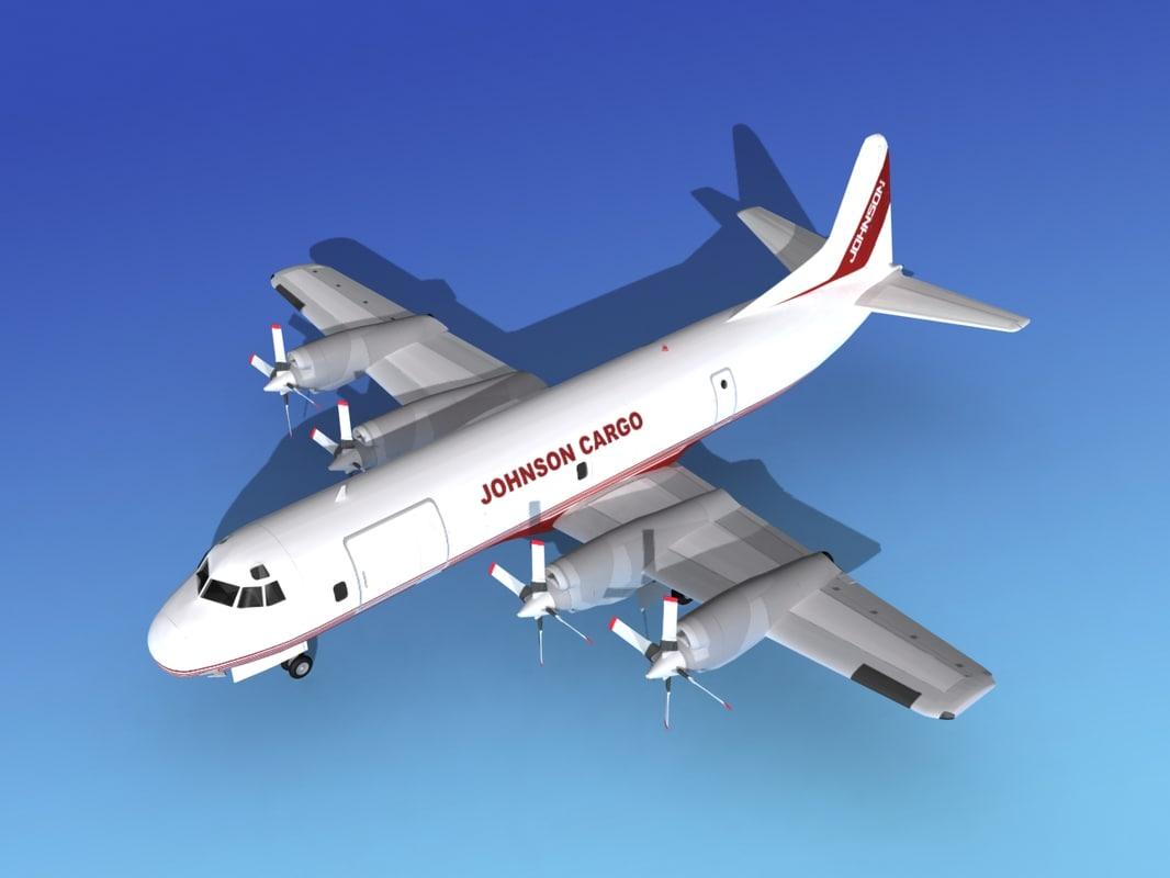 3d propellers electra lockheed cargo model