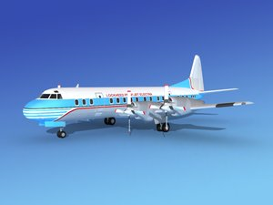 propellers electra aircraft lockheed 3d model